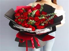 教师节玫瑰鲜花店开业花篮花店送订花送花卡通花束蛋糕