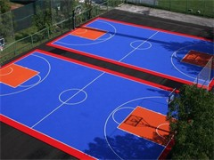 篮球场和室内恒温游泳