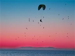 陕西蓝田滑翔伞飞行体验