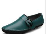 新款夏季豆豆鞋休闲真皮透气男鞋潮流韩版驾车鞋37小码男皮鞋