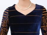 品牌服饰秋季新款 修身包臀丝绒七分袖女装