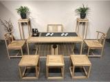 厂家直销老船木茶桌椅组合实木龙骨茶台中式仿古茶台
