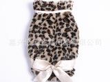 豹纹超舒适豹纹蝴蝶结宠物衣 狗狗保暖衣时尚宠物蝴蝶衣