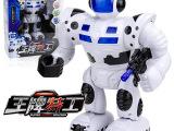 新奇特新款创意灯光音乐益智电动机器人模型