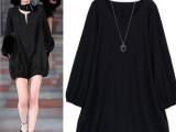 舒淇同款显瘦连体裤 新款女装 欧美风大码女装 黑色连衣裙