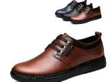 厂家直销2014外贸新款 英伦休闲男鞋潮 温州品牌真皮鞋透气单鞋
