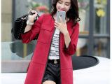 2015秋装新款韩版女装风衣休闲中长款秋季外衣麂皮绒女式风衣外套