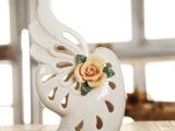 淘宝热销售卖 田园风创意陶瓷花瓶 纯手工翅膀陶瓷花瓶摆饰