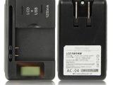 USB 万能充电器SS-5带LCD液晶显示电量快速智能2合1直充