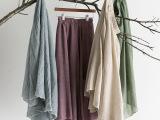 厂家直销淘宝货源批发代理 夏季森女松紧带纯色长裙半身裙大摆裙