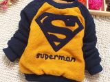 童装冬装男童圆领加绒加厚毛衣儿童长袖韩版毛衣 宝宝套头针织衫