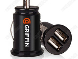 格里芬手机充电器点烟头2.1 3.1A双USB车充贝尔金GPS导