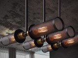 双头阳台宜家餐厅灯吧台美式乡村工业风服装店阁楼金属网吊灯具
