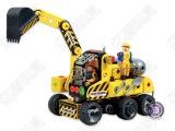 diy儿童益智电动积木玩具 柏源正品 男孩开智思考玩具 拼装1.