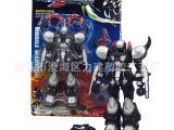 热销动漫玩具 经典动漫玩具 黑色带灯高达机器人  吸板带配件