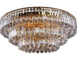 VNC水晶灯LED圆形吸顶灯金色客厅灯聚宝盆水晶灯大厅吸顶灯H0