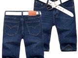 一牛代发夏季牛仔短裤男青年603新款修身直筒纯棉中腰潮代理