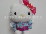 厂家加工定做KT猫毛绒公仔 日本服饰可爱凯蒂猫 填充KT猫玩具