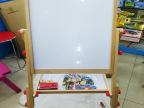 木质玩具儿童画板 彩色升降画板双面磁性宝宝涂鸦素描画板批发