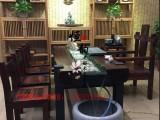 老船木茶桌 2米長厚板茶臺 辦公室茶幾