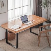 大型会议实木桌简约现代长桌洽谈桌椅组合工作台工业长条办公桌子
