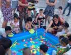 暑期创业首选月入千元的9成新广场钓鱼池套装转让