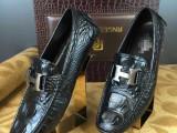 男鞋批发奢侈品大牌原单品质低帮套脚豆豆休闲鞋高端商务微信代发