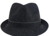 帽子批发 帽子定做 羊毛 男士礼帽爵士帽