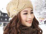 冬季帽子批发  新款韩版 潮针织帽 韩国加厚女士保暖毛线帽套头帽