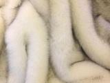 白色染尖仿狐狸毛