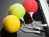 苹果手机音箱 三星N7100外接迷你小音箱i9500音响便携气球