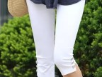 2014新款夏装大码女打底裤女休闲七分裤女夏显瘦中裤女修身弹力