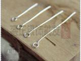 DIY配件925纯银9字针9针九形针脚手链项链耳环水晶针连接针批