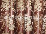 高档色织编金皮提花窗帘布料柯桥厂家直销批发中式风格