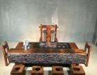 老船木屏风隔断展示柜泡茶桌椅组合老船木家具厂家 船木家具供应
