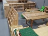 早教中心兒童桌子 幼兒園橡木六人桌 親子樂園橡木桌