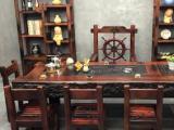 张家界老船木茶桌椅组合全实木茶几功夫茶台中式仿古家具
