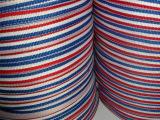 义乌织带厂供应服饰辅料3分1cm红白蓝三色带 蓝白红玩具奖牌挂绳