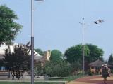 特价led路灯6米单臂路灯杆30WLED路灯头锥形灯杆高杆灯庭院