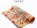 全国包邮畅销批发进口印度瓦拉拉斯好甲扎真丝绸缎手工绣花布料