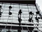 专业高空作业建筑物外墙玻璃清洗防水,亮化安装,鼎豪