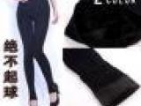 全棉超厚不起球卡拉绒牛仔纹单层打底裤超弹力一体裤考拉绒一体裤