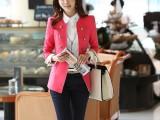 供应韩国正品女装 中国制造 高端精品女小西装 双排扣休闲呢外套