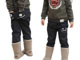 童装童裤纯棉抓绒猫咪口袋女童装长裤|靴裤 批发/一件代发