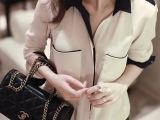 2013秋装新款 韩版大码衬衣雪纺衫女长袖休闲衬衫 打底衬衫