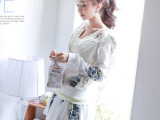 2014新款时尚印花卫衣运动休闲套装 百褶套裙