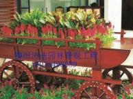 广西户外景观木花箱塑木花盆广场装饰花车生产厂家