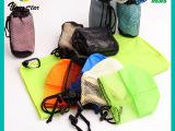 超细纤维双面绒运动毛巾带挂钩网袋桶状柔软舒适吸汗速干超薄加长