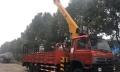 四川二手8吨随车吊带挖树孔价格 平板吊挖机车