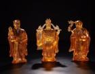 出售琉璃鎏金福禄寿三星塑像